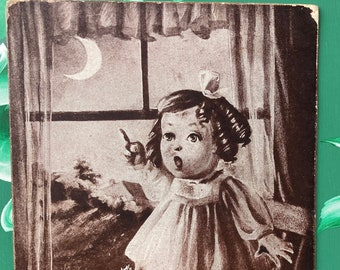 Moon * Little Girl * Sheahan * Humor * 1907 * Canceled Stamp * Used * Antique Postcard