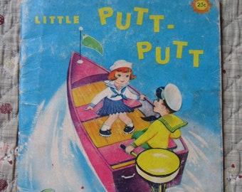 Little Putt-Putt a Sunny Book * Francis Kirn * Samuel Lowe Company * 1968 * Vintage Kids Book