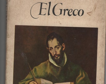 El Greco * Pocket Library of Great Art * John F Matthews * Harry N Abrams Inc * 1953 * Vintage Art Book