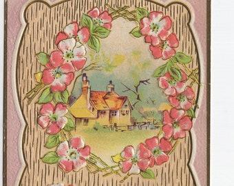 Dogwoods * Farmhouse * A Happy Birthday to You * Victorian * Vintage Postcard Postcard