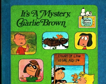 It's A Mystery, Charlie Brown * Charles M. Schulz * Random House * 1975 * Vintage Kids Book