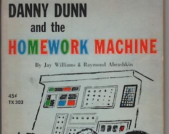 Danny Dunn and the Homework Machine * Jay Williams * Raymond Abrashkin * Ezra Jack Keats * Scholastic Book Service * 1966 * Vintage Kids Bk