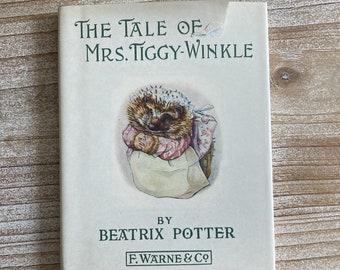 The Tale of Mrs. Tiggy Winkle * Beatrix Potter * F Warne & Co * Vintage Kids Book