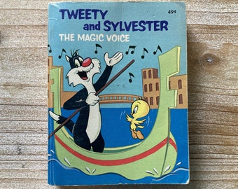 Tweety and Sylvester * The Magic Voice * Big Little Book * Laura French * Rita Ritchie * Western Publishing * 1976 * Vintage Kids Book