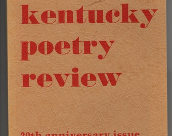 Kentucky Poetry Review * 20th Anniversary Issue * Bellarmine College * 1984 * Vintage Poetry Book