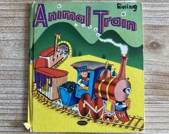 Animal Train * Whitman Tell-a-Tale Book * Elizabeth Williams * Ben D Williams * Western Publishing * 1952 * Vintage Kids Book