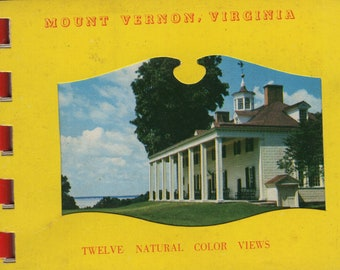 Mount Vernon * Virginia * Vintage Miniature Cards * Postcard Book Souvenir Folder