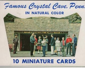 Crystal Cave * Pennsylvania * Lusterchrome * Vintage Miniature Cards * Postcard Book