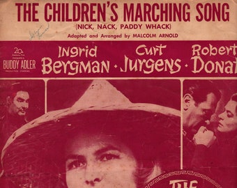 The Children's Marching Song (Nick, Nack, Paddy Whack) * Malcolm Arnold * Miller Music Corporation * 1958 * Vintage Sheet Music