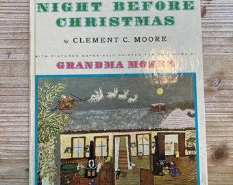 The Night Before Christmas * Clement Moore * Grandma Moses * Random House * 1961 * Vintage Christmas Book