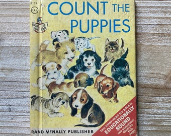 Count The Puppies * Start Right Elf Book * Carolyn Dee * Mary Whilldin * Rand McNally * 1966 * Vintage Kids Book