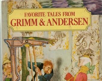 Favorite Tales from Grimm and Andersen * The Brothers Grimm + Hans Christian Andersen * Jiri Trnka * Exeter Books * 1984 * Vintage Kids Book