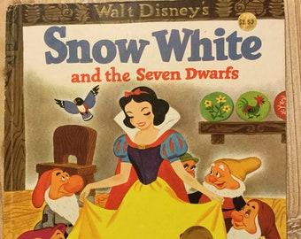 Walt Disney's Snow White and the Seven Dwarfs * A Golden Book * Jane Werner * Walt Disney Studio * Western Pub * 1977 * Vintage Kids Book