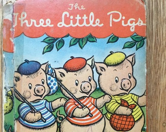 The Three Little Pigs * Rand McNally * Vintage Kids Book