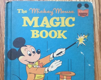 The Mickey Mouse Magic Book * Random House * 1974 * Vintage Kids Book