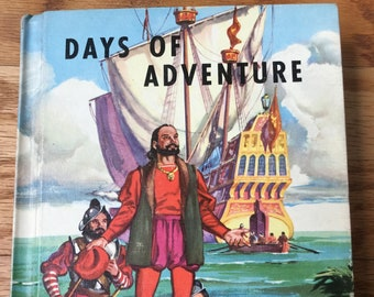 Days of Adventure * Classmate Edition * Lyons and Carnahan * 1956 * Vintage Text Book