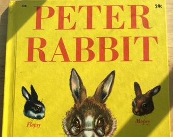 Peter Rabbit * Beatrix Potter * Phoebe Erickson * Wonder Books * 1947 * Vintage Kids Book