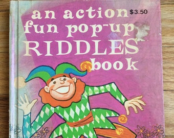 An Action Fun Pop-Up Riddles Book * Philip Mann * Tony Tallarico * Modern Promotions * Vintage Pop-Up Book