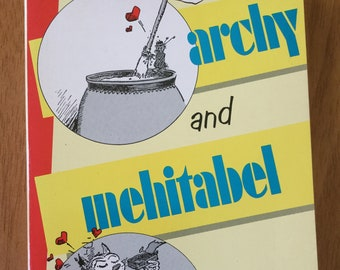 archy and mehitabel * Don Marquis * George Herriman * Doubleday & Company * 1990 * Vintage Humor Book