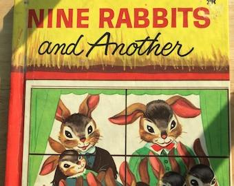 Nine Rabbits and Another * Miriam Clark Potter * Rachel Taft Dixon * Wonder Books * 1957 * Vintage Kids Book