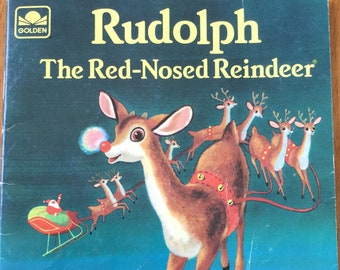 Rudolph The Red-Nosed Reindeer * Golden Press * 1958 * Vintage Christmas Book
