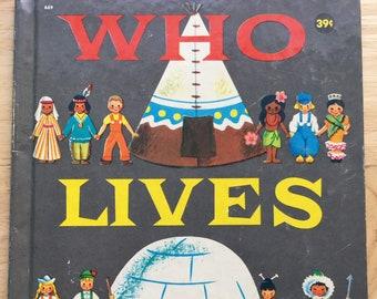 Who Lives Here? * Judith Varga * Wonder Books * 1958 * Vintage Kids Book