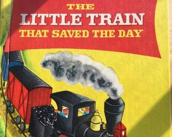 The Little Train That Saved the Day * &  * Charlotte Steiner * Wonder Books * 1952 * Vintage Kids Book
