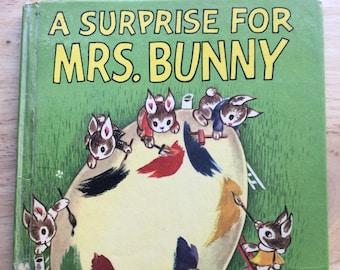 A Surprise For Mrs. Bunny * Charlotte Steiner * Wonder Books * 1953 * Vintage Kids Book