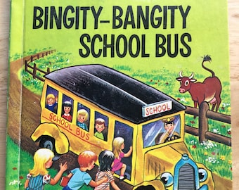The Bingity-Bangity Bus * Fleur Conkling * Ruth Wood * Wonder Books * 1975 * Vintage Kids Book