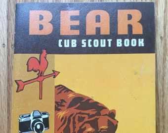 Bear Cub Scout Book with Bear Parents Supplement * Boy Scouts of America * 1967 * Vintage Kids Book