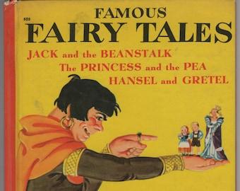Famous Fairy Tales * Eleanor Graham * Mervin Jules * Wonder Books * 1949 * Vintage Kids Book