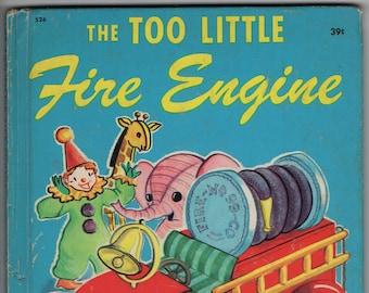 The Too Little Fire Engine * Jane Flory * Wonder Books * 1950 * Vintage Kids Book