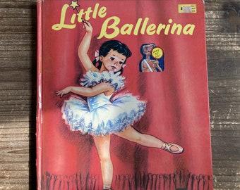 Little Ballerina * Rand McNally Giant Book * Dorothy Grider * Rand McNally * 1961 * Vintage Kids Book