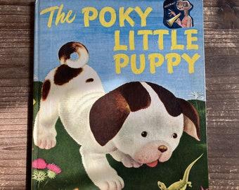 The Poky Little Puppy * Big Golden Book * Janet Sebring Lowrey * Gustaf Tenggren * Golden Press * 1973 * Vintage Kids Book