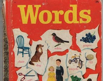 Words * A Little Golden Book * Selma Lola Chambers * Gertrude Elliott * Golden Press * 1948 * Vintage Kids Book
