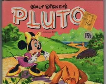 Walt Disney's Pluto * A Tell-A-Tale Book * Revena * Walt Disney Studio * Whitman Publishing * 1957 * Vintage Kids Book