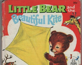 Little Bear and the Beautiful Kite * A Tell-A-Tale Book * Janice Udry * Hertha Depper * Whitman Publishing * 1955 * Vintage Kids Book
