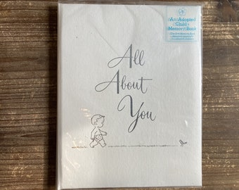 All About You * An Adopted Child's Memory Book * Marion A MacLeod * The C. R. Gibson Company * 1968 * Vintage Book