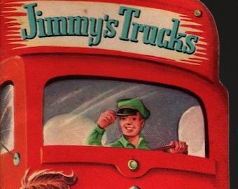 Jimmy's Trucks * Whitman Publishing * 1953 * Vintage Kids Book