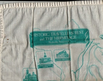 Historic Travellers' Rest and The Hermitage, Nashville, Tennessee Handkerchief + Vintage Linens