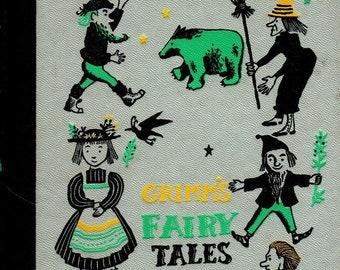 Grimm's Fairy Tales + Jakob and Wilhelm Grimm + Leonard Weisgard + Nelson Doubleday + 1954 + Vintage Kids Book