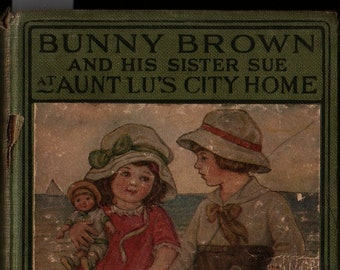Bunny Brown and His Sister Sue at Aunt Lu's City Home + Laura Lee Hope + Florence England Nosworthy + 1916 + Vintage Kids Book