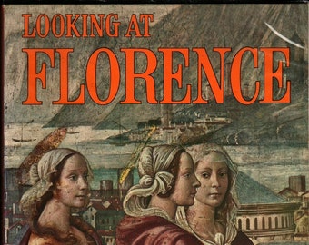 """Looking At Florence With Panoramic View """"Photorama 180"""" + Rolondo Fusey + 1972 + Vintage Art Book"""