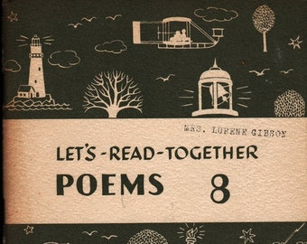 Let's Read Together Poems  + Helen A. Brown and Harry J. Heltman + Row, Peterson and Company + 1954 + Vintage Poetry Book