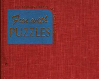 Fun With Puzzles + Joseph Leeming + Jessie Robinson + 1946 + Vintage Craft Book