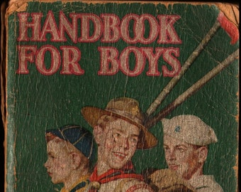 Handbook For Boys + 1947 + Vintage Kids Book