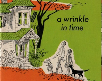 A Wrinkle in Time + Abridged + Madeleine L'Engle + Mircea Vasiliu + 1964 + Vintage Kids Book