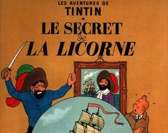 Tintin: Le Secret de La Licorne * Herge * Herge * 1974 * Vintage Kids Book