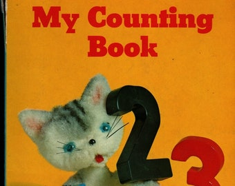 My Counting Book a Golden Book Board Book + Shinwa Trading Co. + 1960s + Vintage Kids Book
