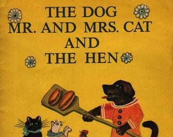 The Dog Mr. and Mrs. Cat and The Hen A Russian Folk Rhyme * Yuri Vasnetsov * Vintage Kids Book